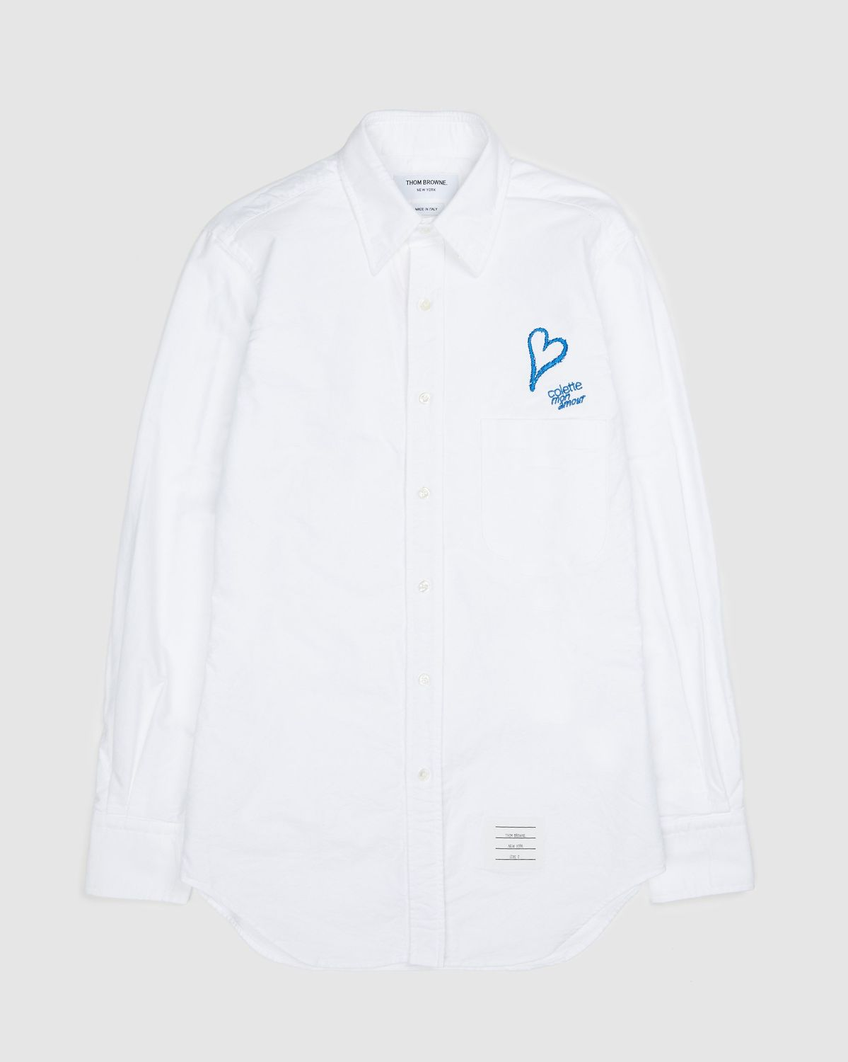Colette Mon Amour x Thom Browne — White Heart Classic Shirt - Image 1