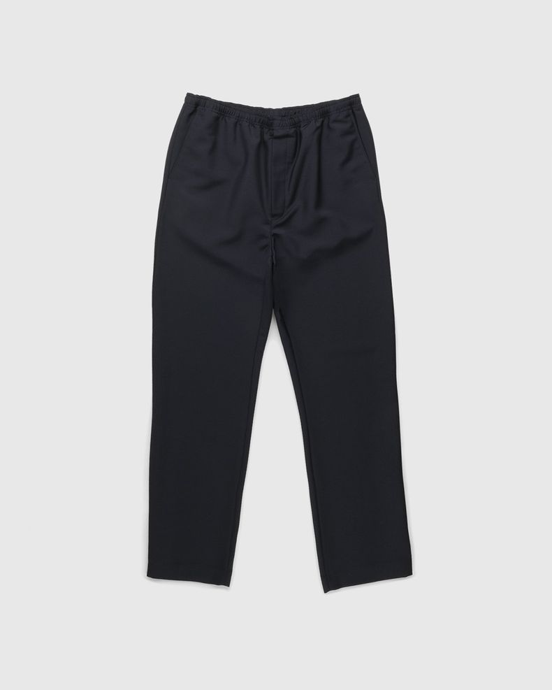 Acne Studios – Mohair Blend Drawstring Trousers Navy
