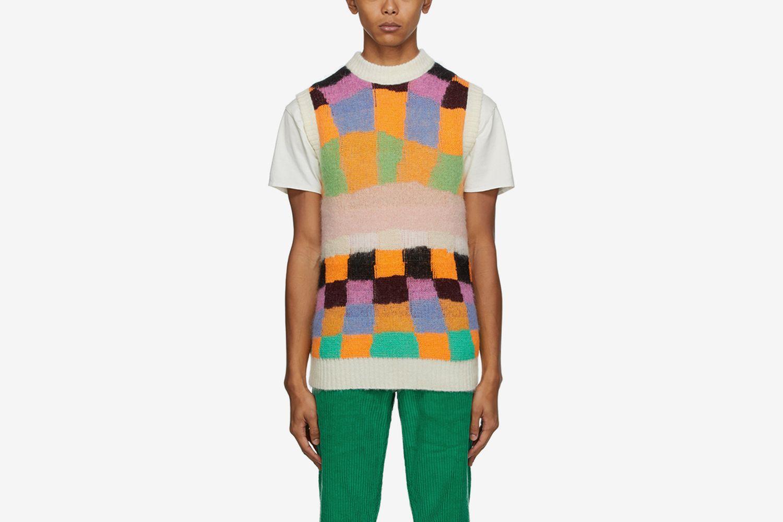 Reversible Alpaca and Mohair Sweater Vest