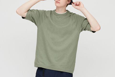 Raglan Crew Neck Half-Sleeve T-Shirt