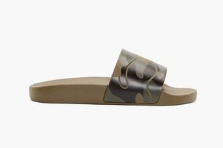 fd4144a3564bf Valentino Military Green Camo Flat Sandals | Highsnobiety