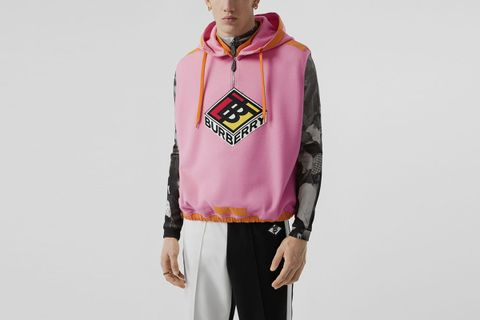 Sleeveless Logo Graphic Wool Hoodie