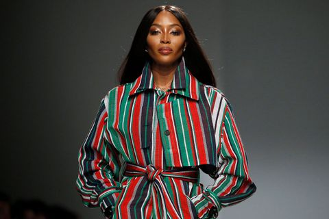 Naomi Campbell walks the runway during the Kenneth Ize show