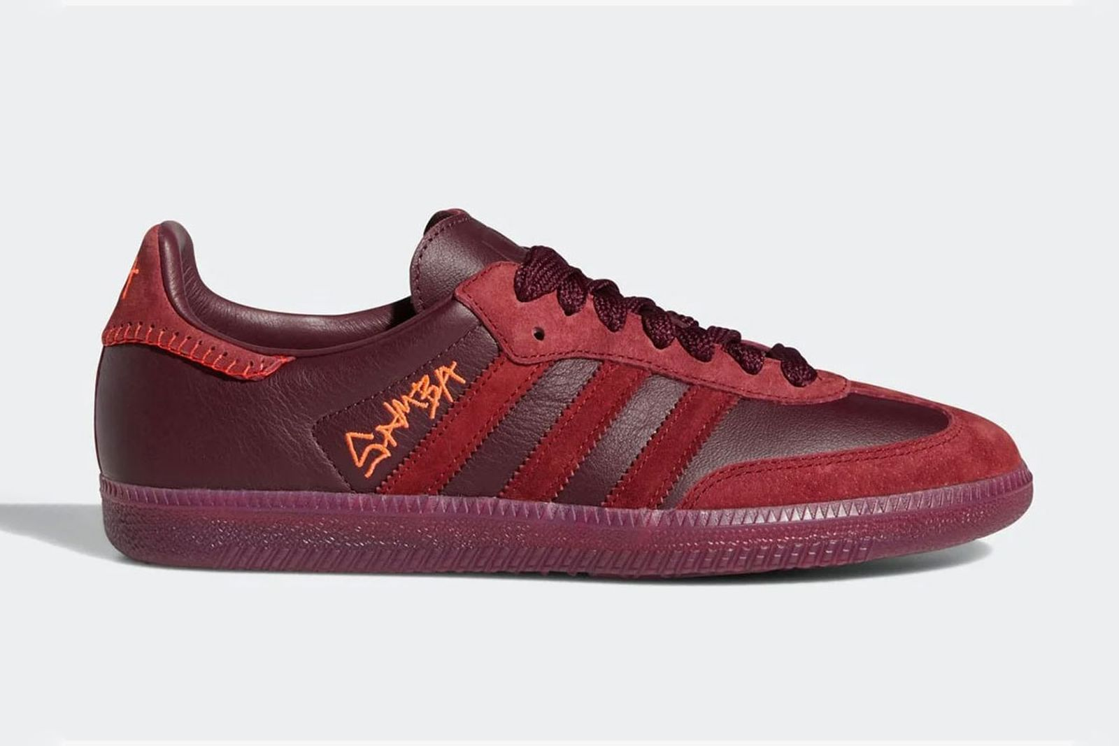 Jonah Hill adidas samba red product shot