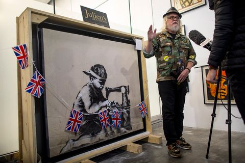 artist buys banksy to destroy it