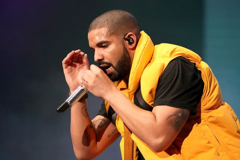 Drake performs on the Coachella stage during day 2 of the Coachella