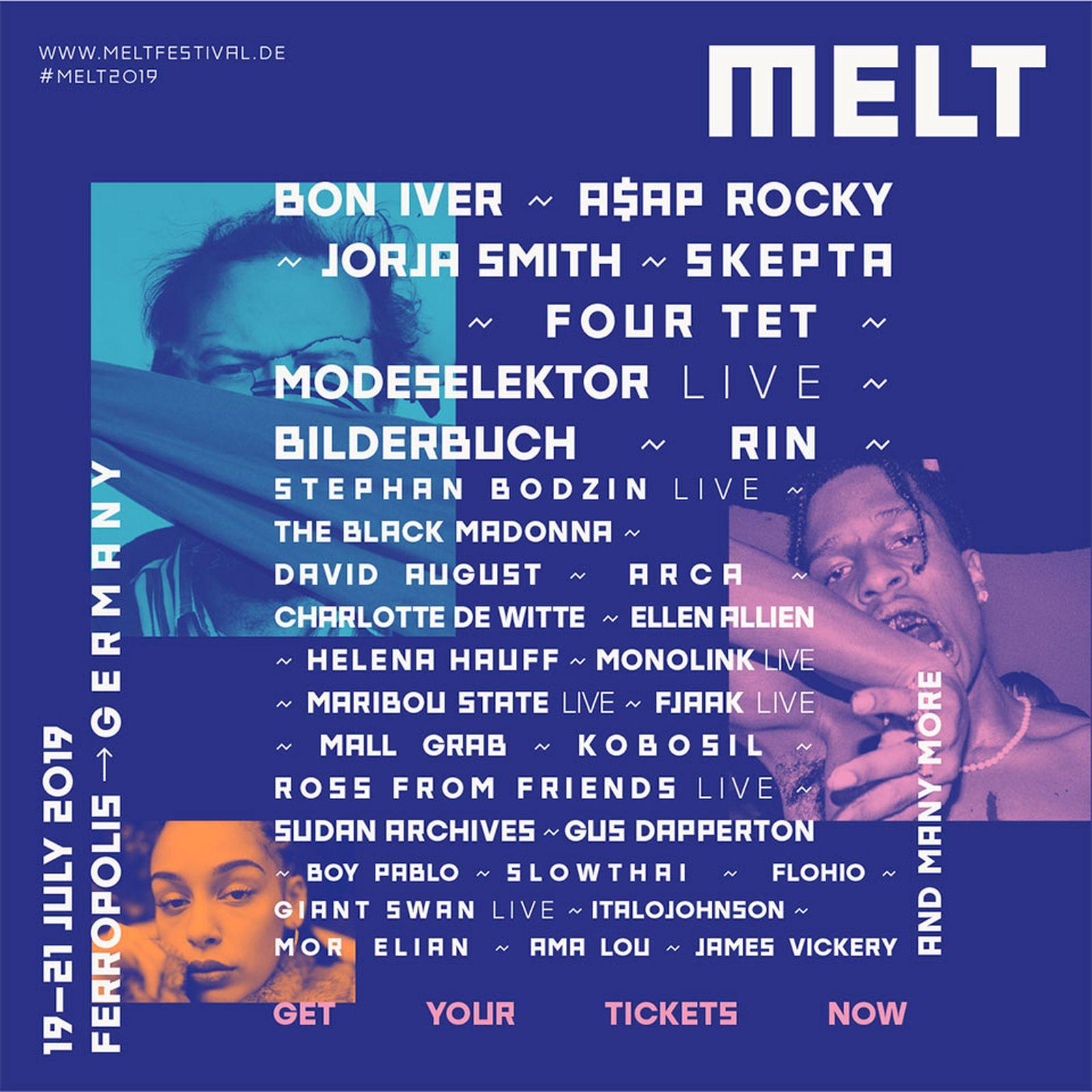 melt festival 2019 lineup arca asap rocky four tet
