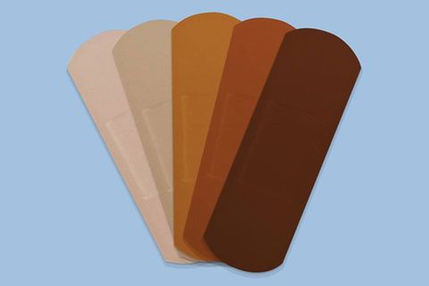 Band-Aids in five skin tones
