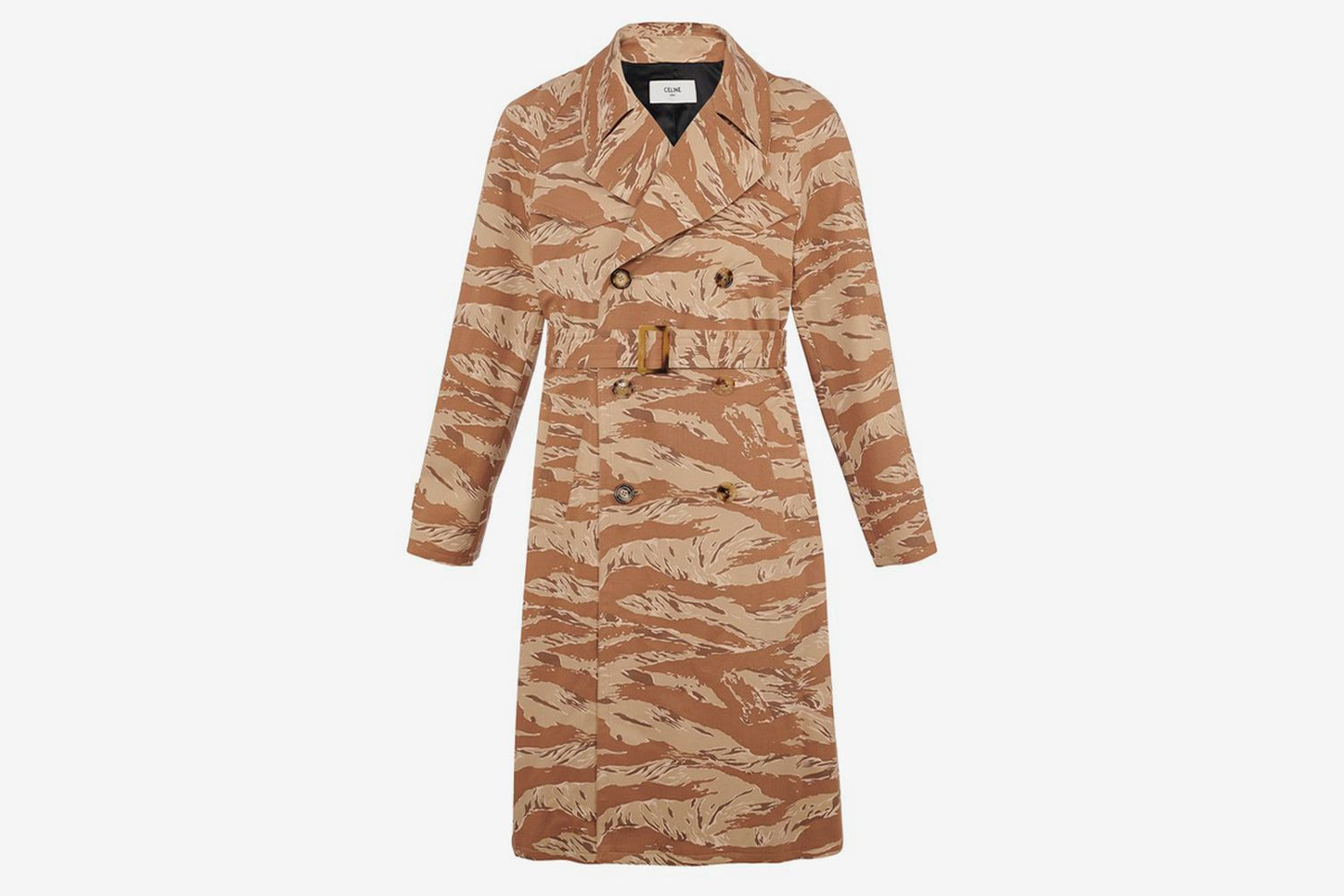Western Camouflage Trench Coat