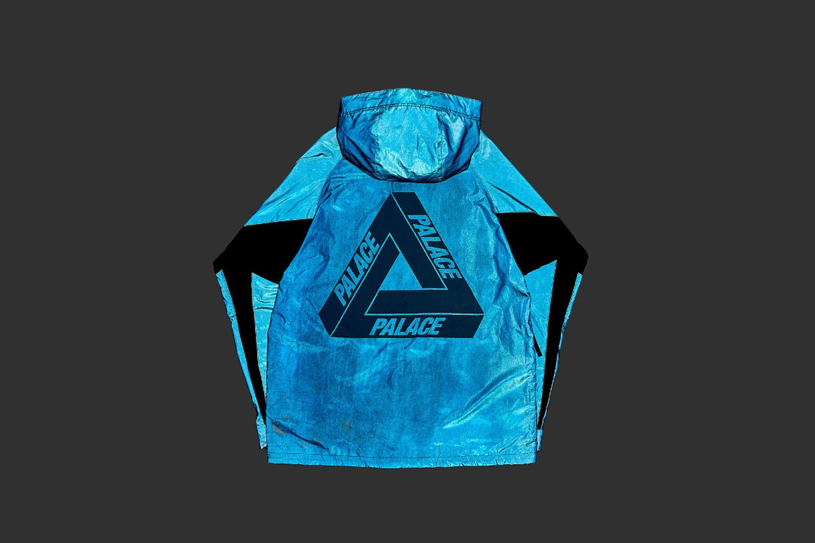 Palace 2019 Autumn Jacket Deflector blue reflective side fw19