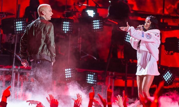 Eminem and Rihanna perform 2014 MTV movie awards