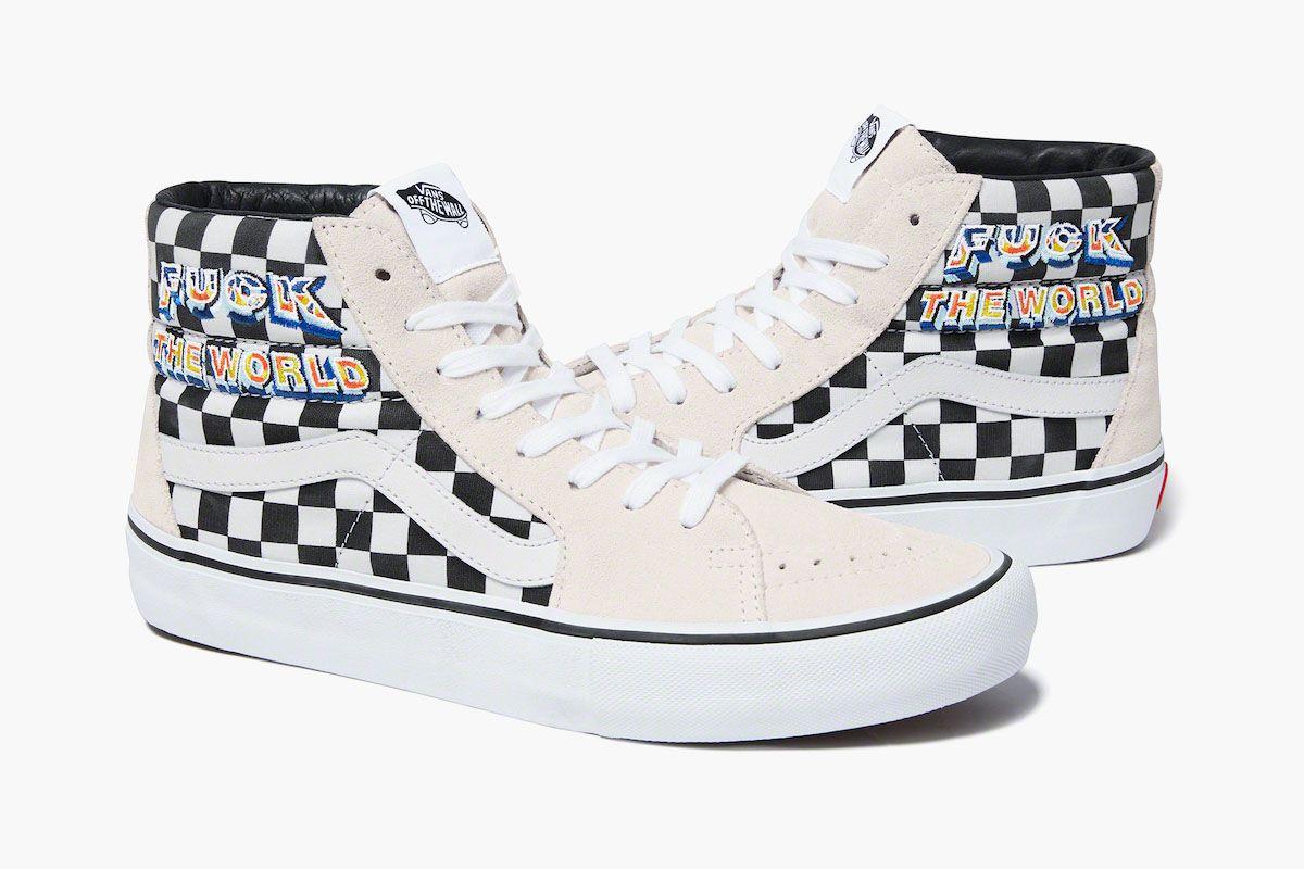 Vans ftp clearweather donny allover logo skate shoe