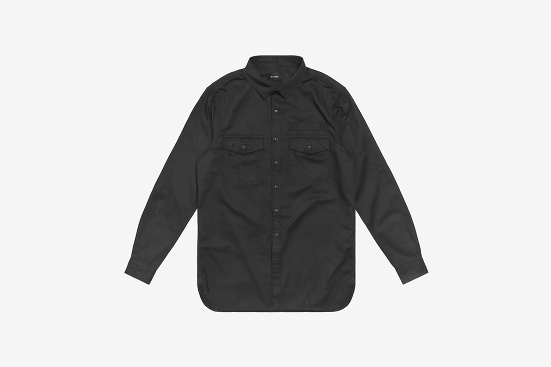 Washed Denim Work Shirt