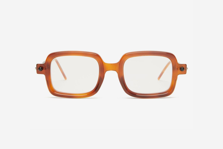 P2 Square Tortoiseshell-Acetate Glasses