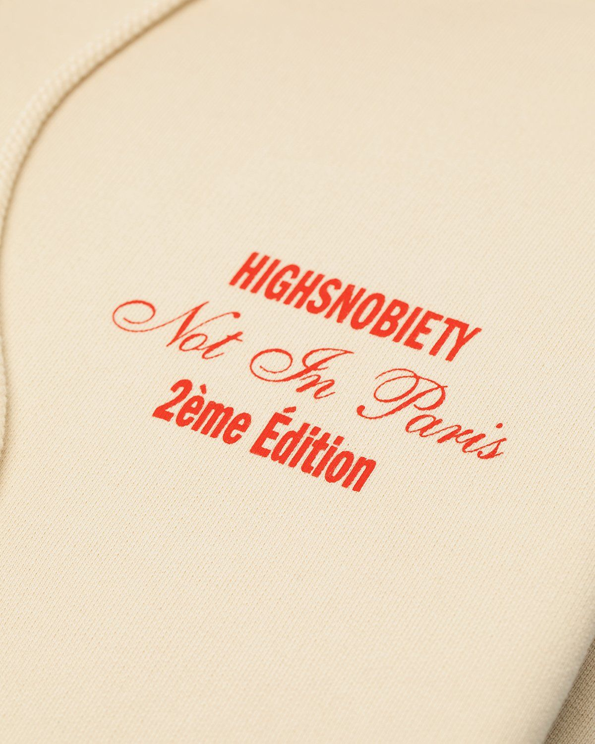 Highsnobiety — Not In Paris Red Heel Hoodie Eggshell - Image 3