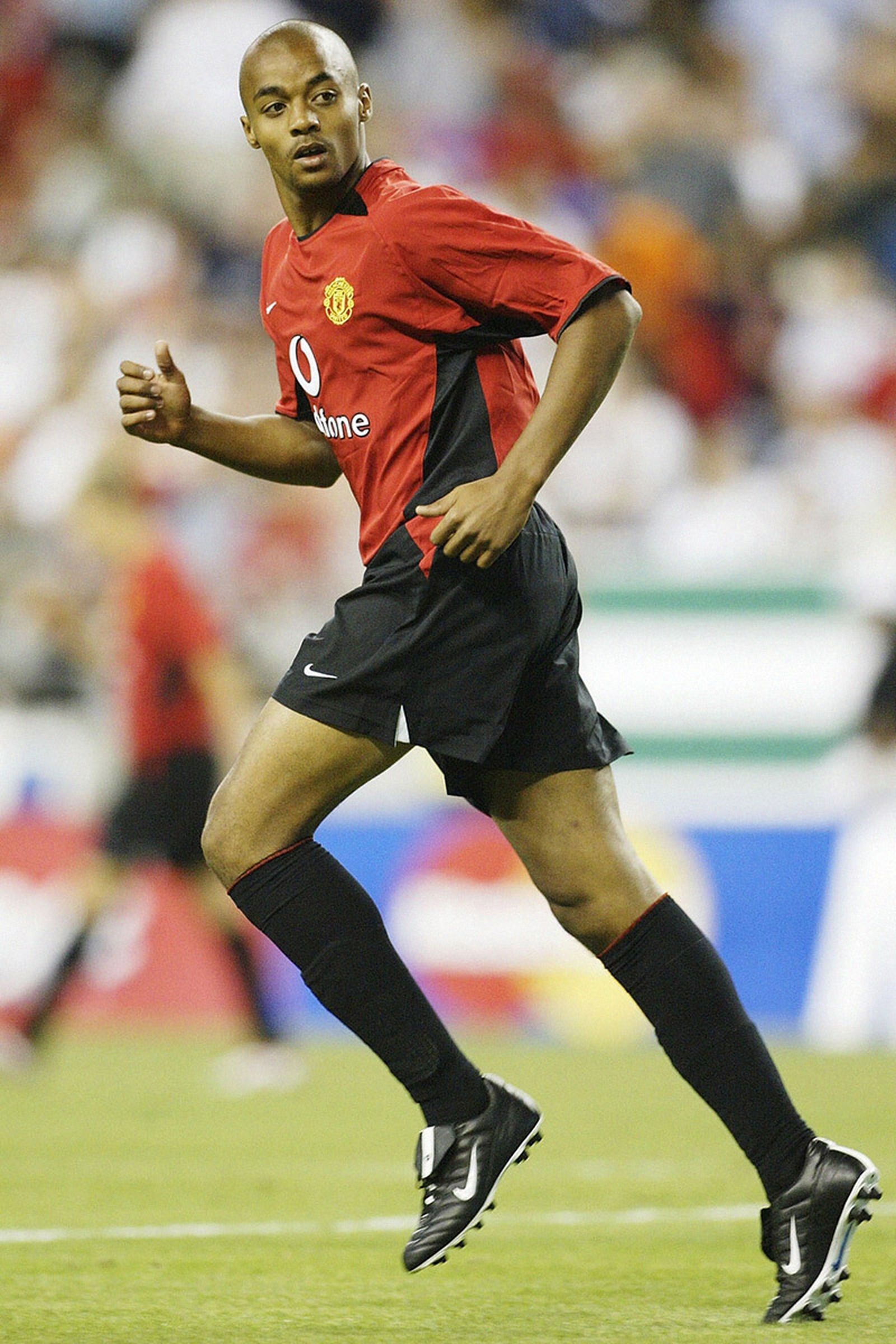 David Bellion of Manchester United in action during the Champions World Series game between Manchester United and Celtic on July 23, 2003 .
