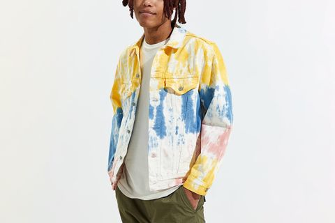 Haight Surfer Tie-Dye Denim Trucker Jacket