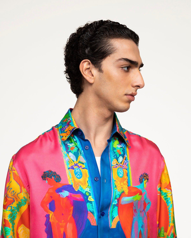 Versace —  Silk Shirt Multicolour - Image 3