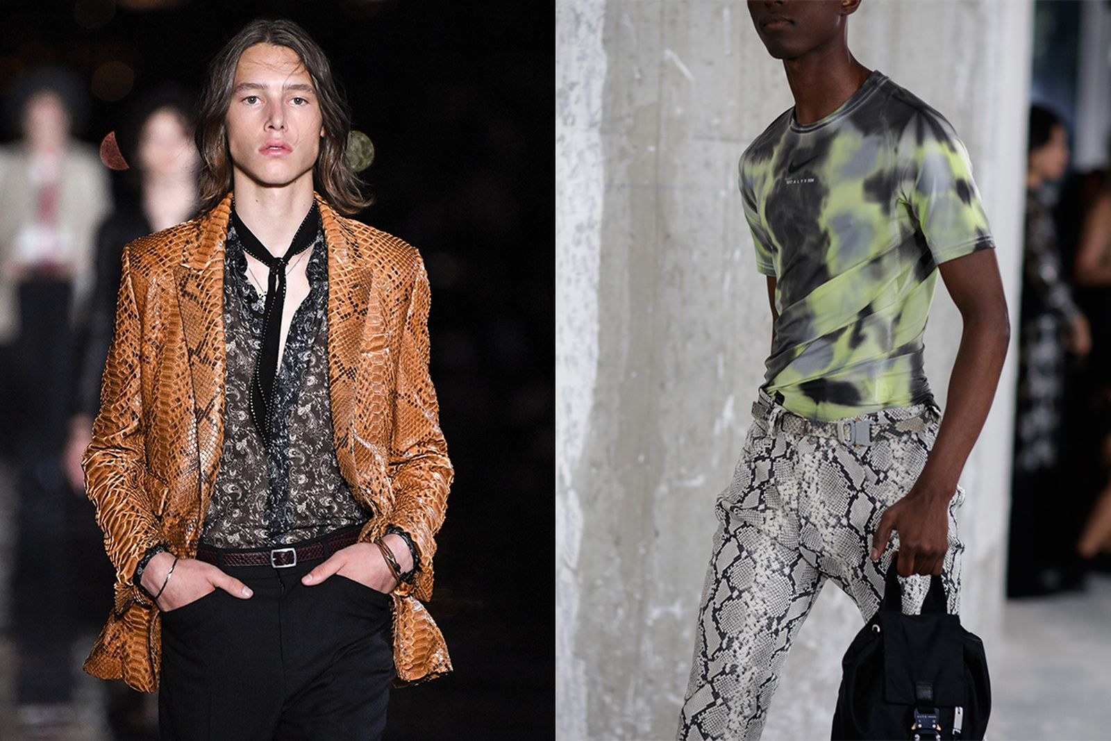 python print everywhere fashion week main Martine Rose SSS World Corp alyx