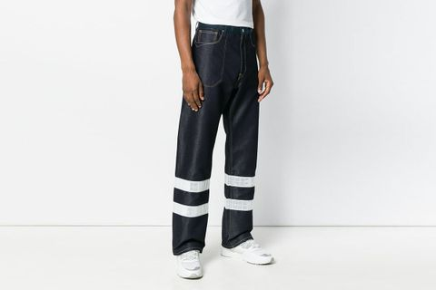 Reflective Work Jeans