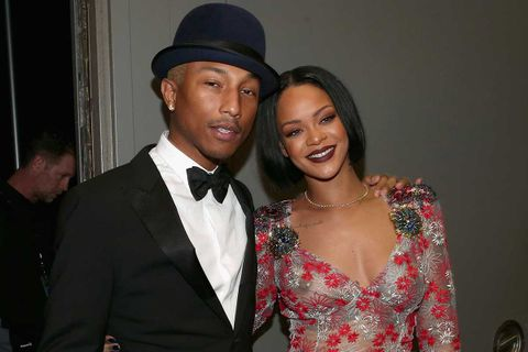 Rihanna and Pharrell posing together