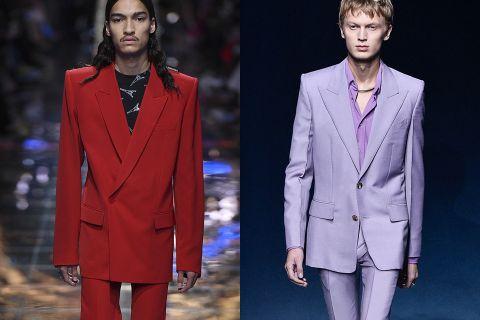suits comeback pfw ss19 Balenciaga Gucci Louis Vuitton