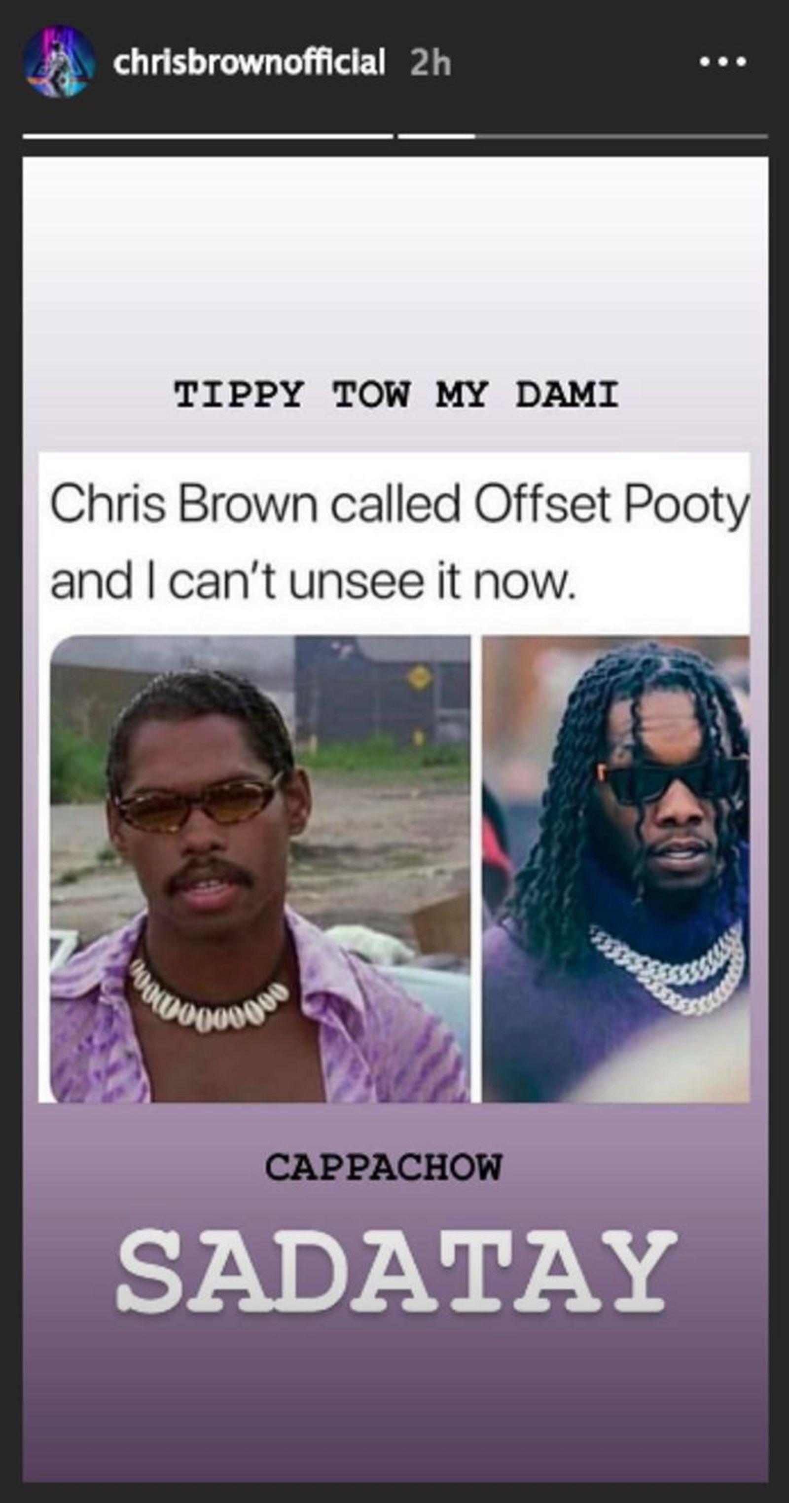 offset chris brown beef 21 savage memes