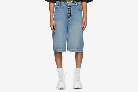 Denim Skater Shorts