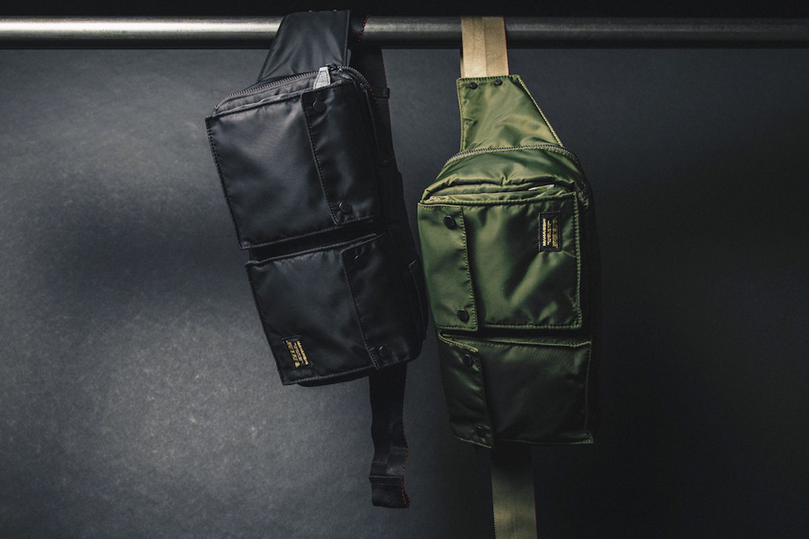 maharishi fw18 flight nylon accessories bags