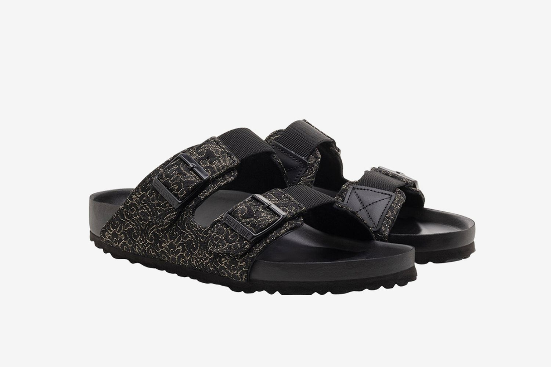 Brocade Slide Sandals