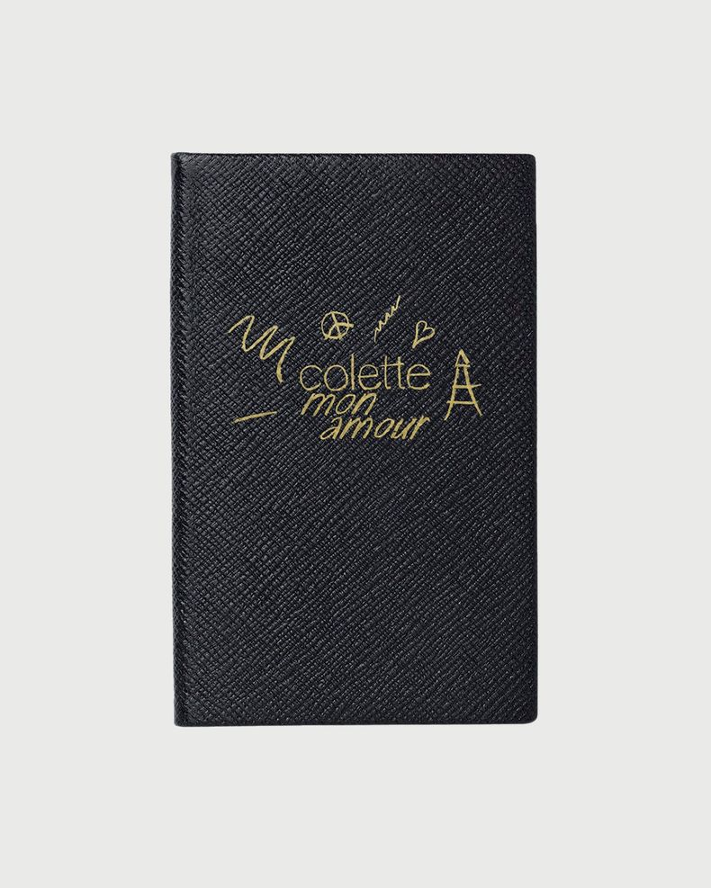 colette Mon Amour - Smythson Notebook Black