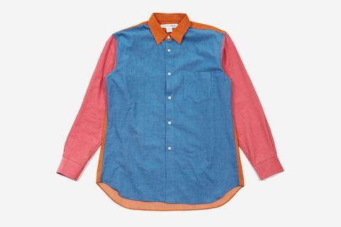 Cotton Babycord Colour Block Shirt