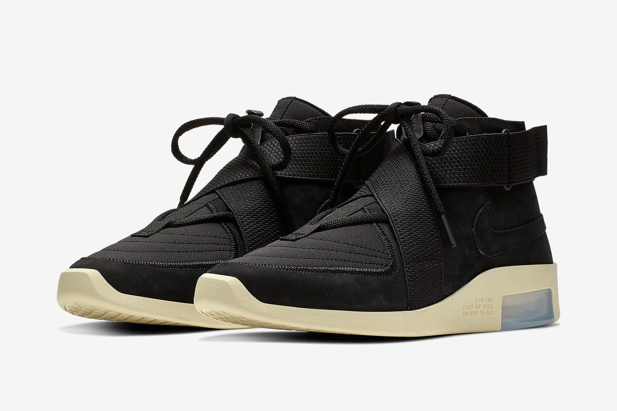 new arrival 25f68 bc862 Take Your Closest Look Yet at the Nike Air Fear of God 180 in Black