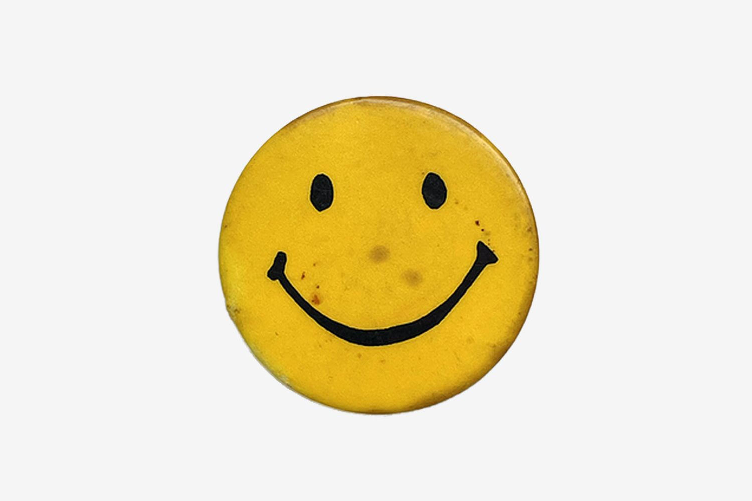1970s Smiley Face Pin Badge