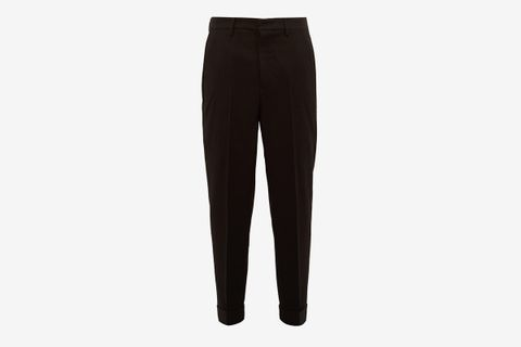 Tapered Leg Wool Trousers