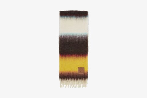 William De Morgan Mohair Stripe Scarf