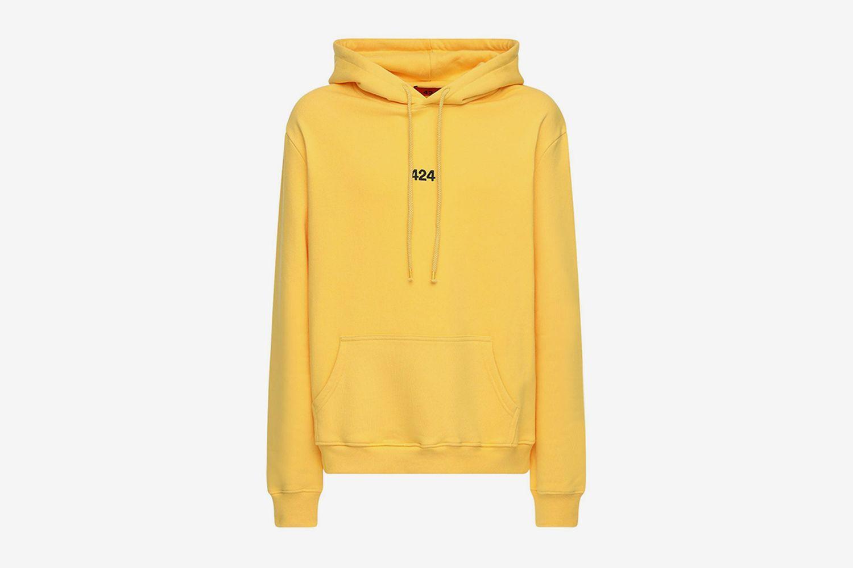 Logo Cotton Sweatshirt Hoodie