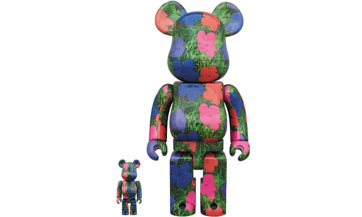 Andy Warhol flowers bear brick