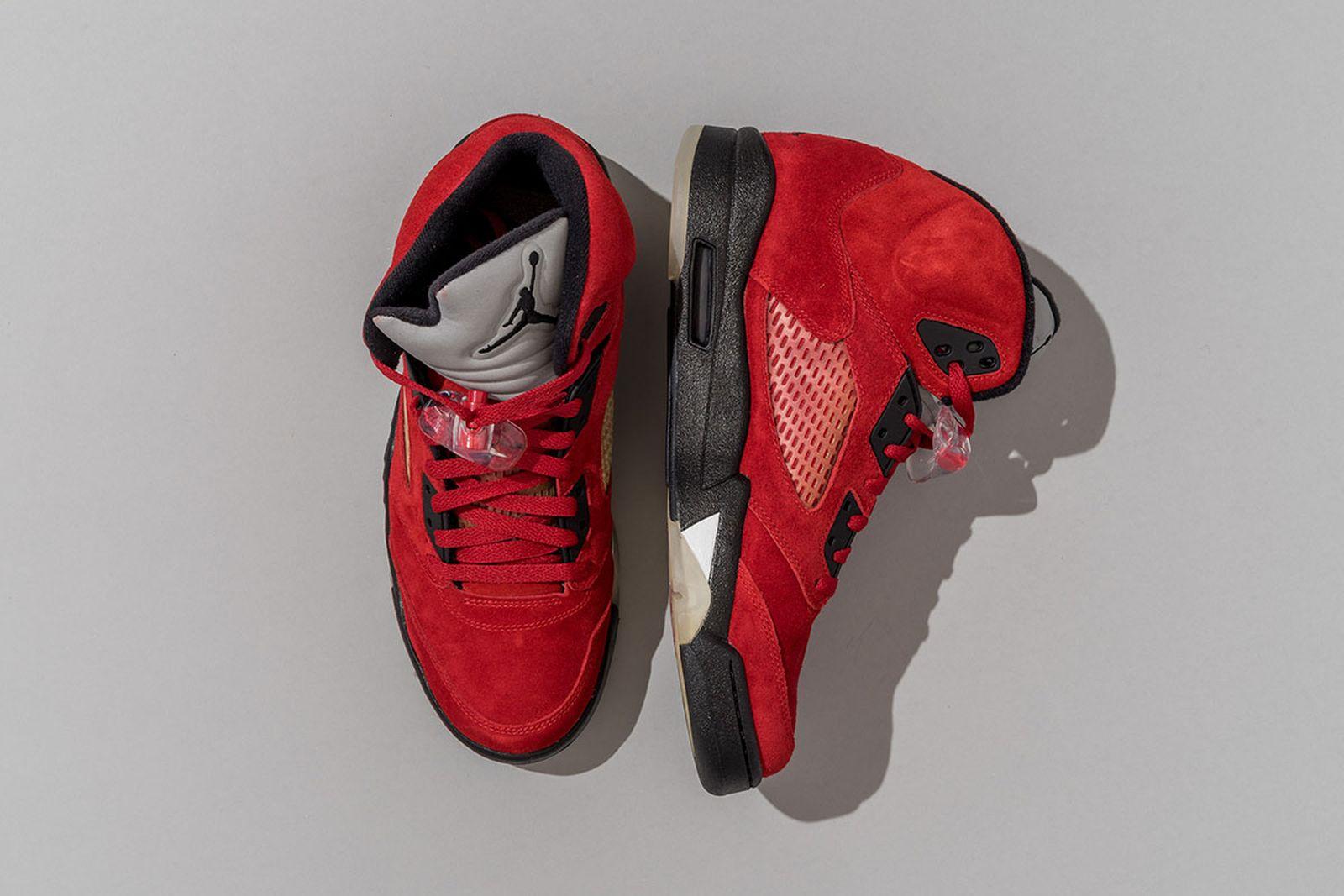2000 Air Jordan 5 White/Black-Fire Red