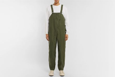 Cotton-Canvas Bib Overalls