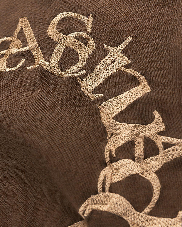 Acne Studios – Cotton Logo T-Shirt Chocolate Brown - Image 4