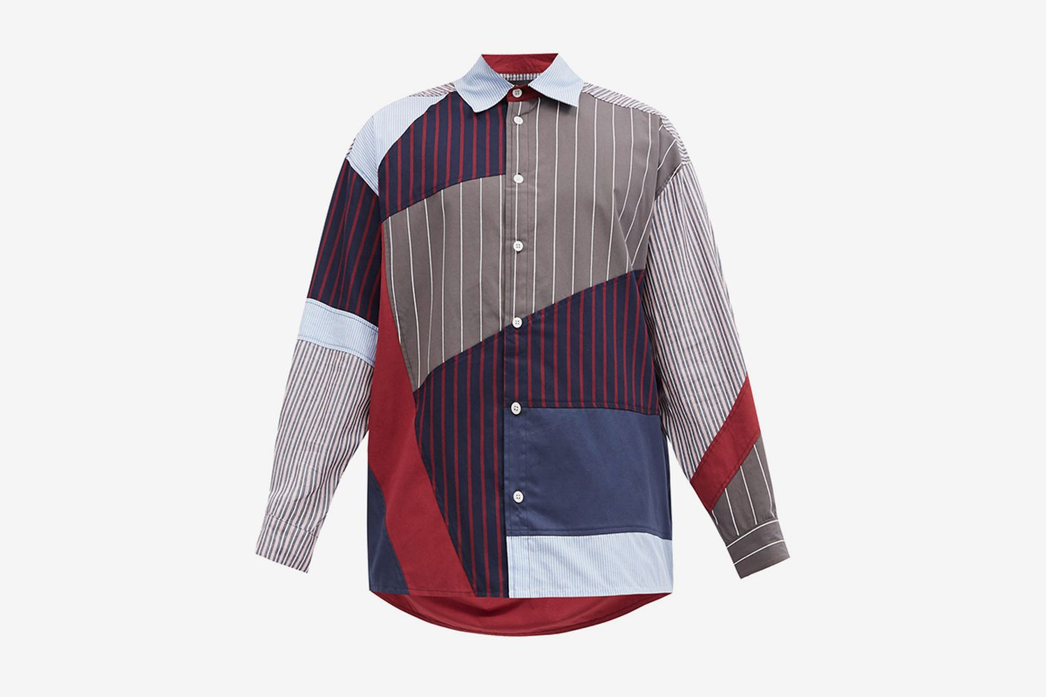 Striped Patchwork Upcycled Shirt