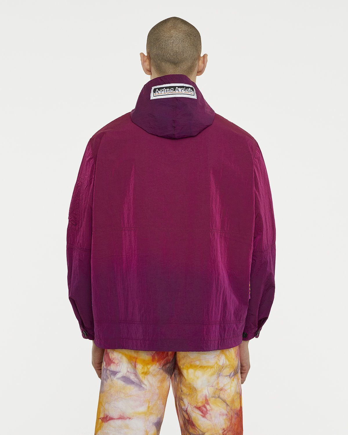 Aries - Ombre Dyed Tech Jacket Fuchsia - Image 6