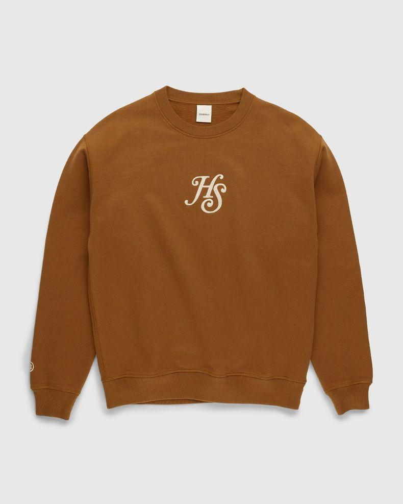 Highsnobiety – Classic Logo Fleece Crew Acorn