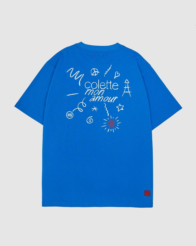 Colette Mon Amour x CLOT — Blue T-Shirt - Image 1