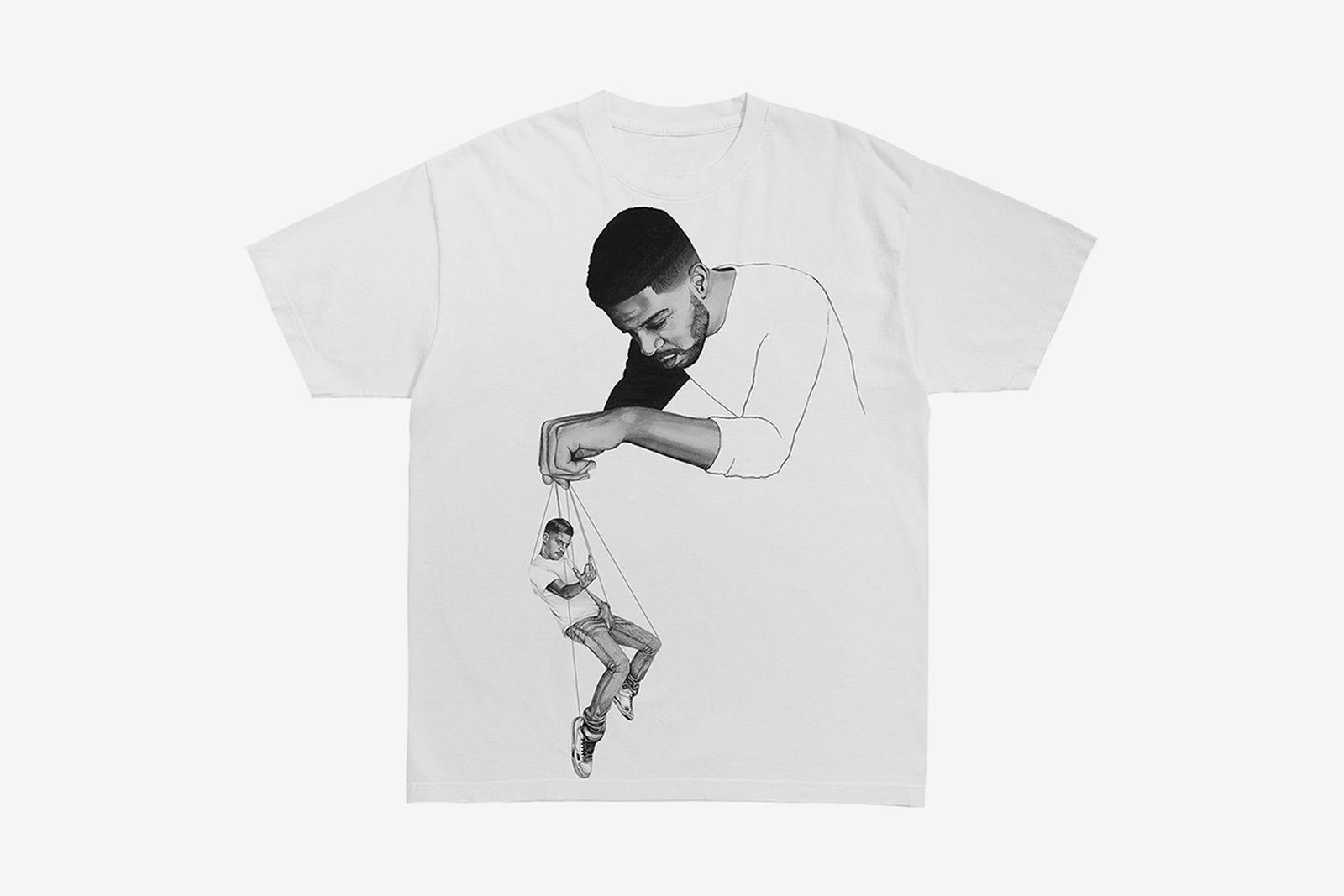 """Kid Cudi Virgil Abloh """"Pulling Strings"""" T-Shirt"""