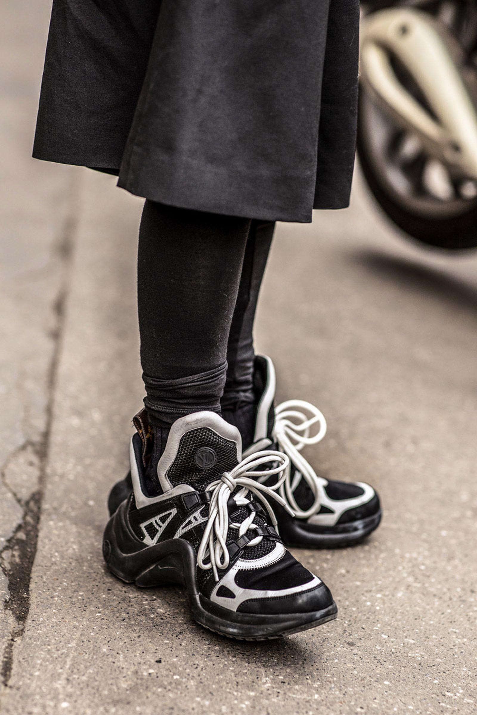womens fashion week milan fw19 sneaker street style Adidas Nike