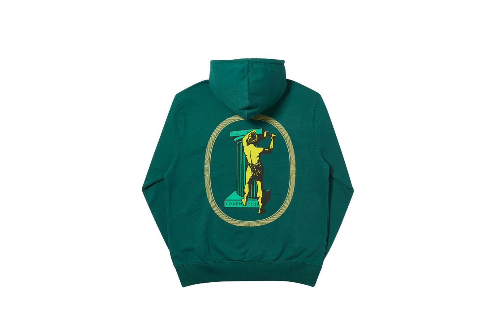 Palace 2019 Autumn Hood Chizzle Up green back