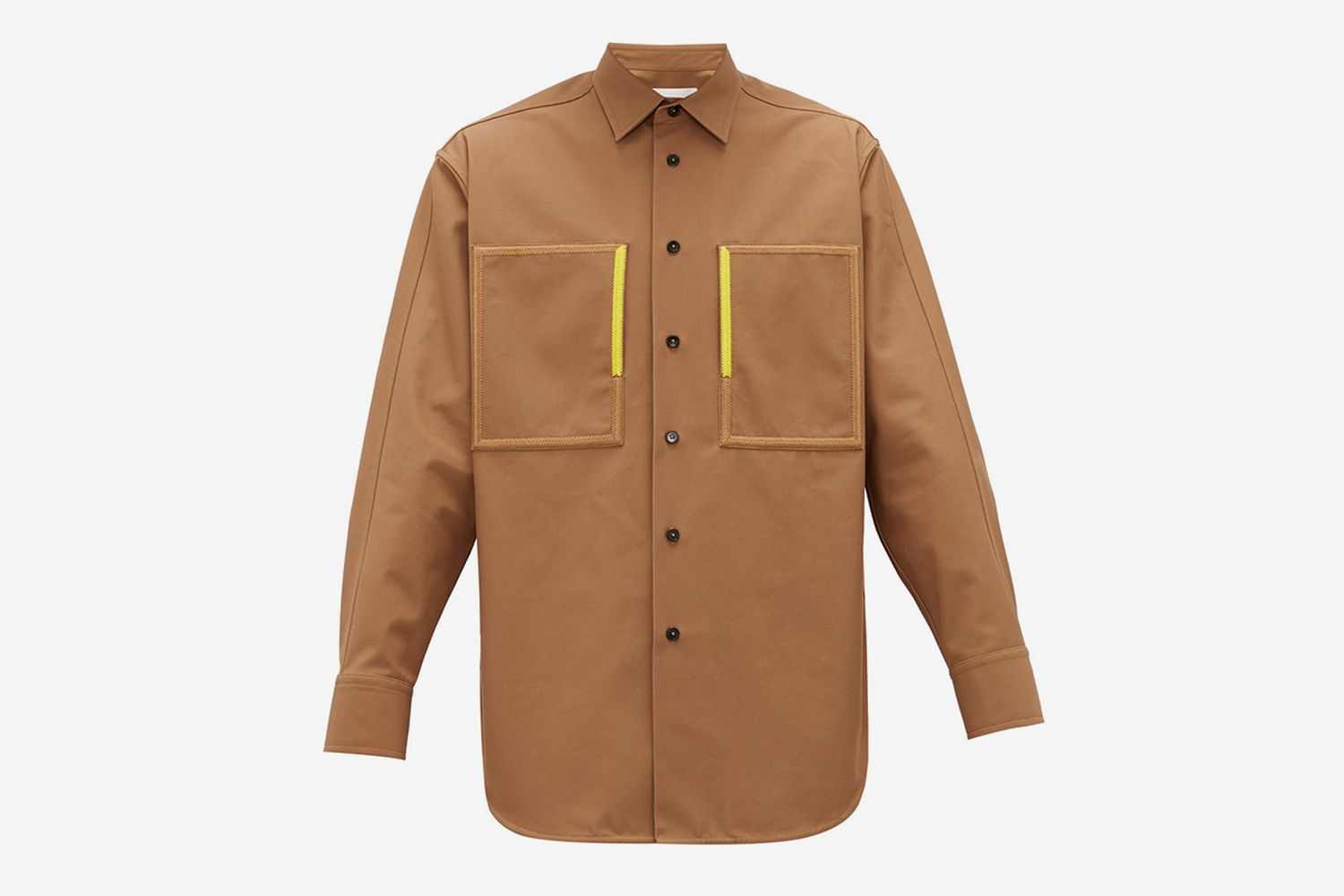 Embroidered Patch-Pocket Cotton-Canvas Overshirt