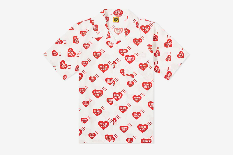 Heart Pattern Aloha Shirt